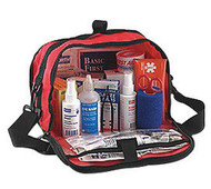 """North® By Honeywell Redi-Care™ 7"""" X 10 1/2"""" X 6"""" Red Nylon Portable Mount Large 25 Person Responder First Aid Kit With CPR Barrier"""