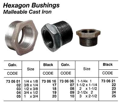 IMPA 730605 Malleable cast iron reducing bushing No  241