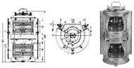 IMPA 370441 NAVIGATION-LIGHT DUPLEX MASTHEAD POLY