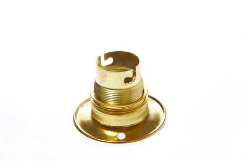 IMPA 450135 BRASS LAMPHOLDER B22 WITH BAKE PLATE