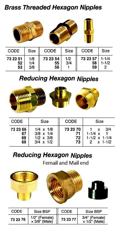 "3//8/"" 1//2/"" 3//4/"" 1/"" Male x Female Thread Pipe Reduction Nipple Union Fitting Brass"