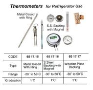 IMPA 651716 BRIDGE THERMOMETER BRASS-CHROME CASE -30/+50 C