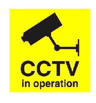 IMPA 332974 Self adhesive ISPS code sign - CCTV in operation