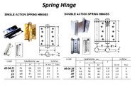 IMPA 490423 SPRING HINGE 125mm SINGLE ACTION