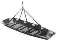 IMPA 391391 Stretcher basket type, complete with lifting slings