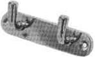 IMPA 491016 TOWEL HOOK ALUMINIUM 130x35mm WITH 2 HOOKS