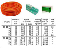 IMPA 350175 Waterhose suction & discharge PVC Nominal size 65mm - price per meter