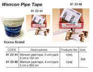 IMPA 812348 WENCON PIPE TAPE 50mm roll 350cm - unit 4 pcs.