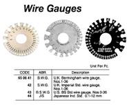 IMPA 650642 WIRE GAUGE SWG 1-36