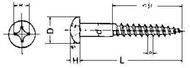 IMPA 694601 WOOD SCREW ROUND HEAD 3,0x16mm DIN 96-BRASS
