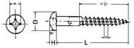 IMPA 694601 WOOD SCREW ROUND HEAD 4,0x50mm DIN 96-BRASS