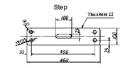 IMPA 232041 Wooden normalisation repair step incl. hearts 525x117x60 mm