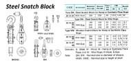 """IMPA 231586 WOODEN SNATCH BLOCK 12"""" 1-SHEAVE 30mm SWIVEL HOOK"""