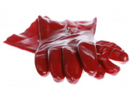 IMPA 190132 WORKING GLOVE PVC RED BROWN PVC LINED 270 MM 11