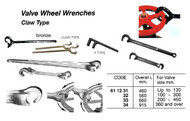 IMPA 611234 WRENCH VALVE WHEEL 800mm CLAW TYPE ALU-BR NON-SPARK