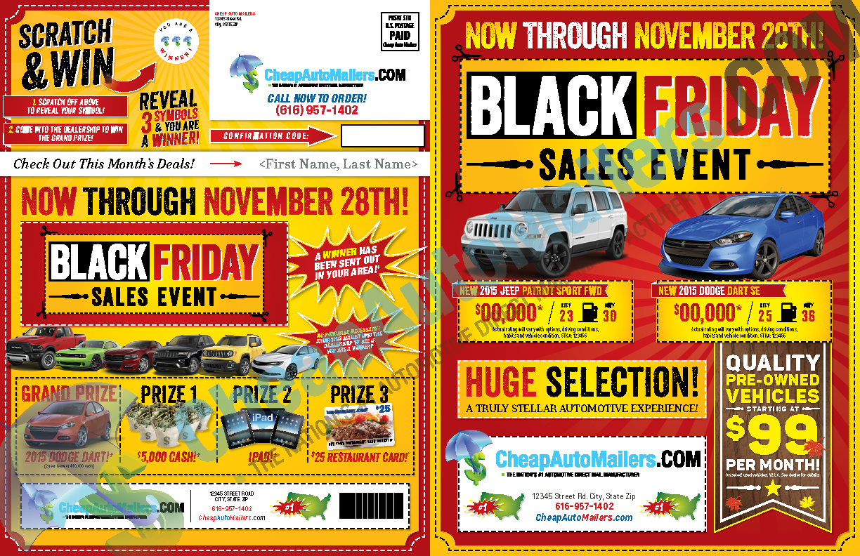 Automotive Direct Mail >> Black Friday Automotive Direct Mail
