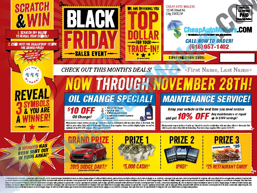 Black Friday Automotive Mailer