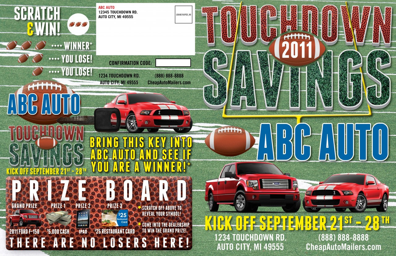 8 Page Booklet Football Auto Mailer