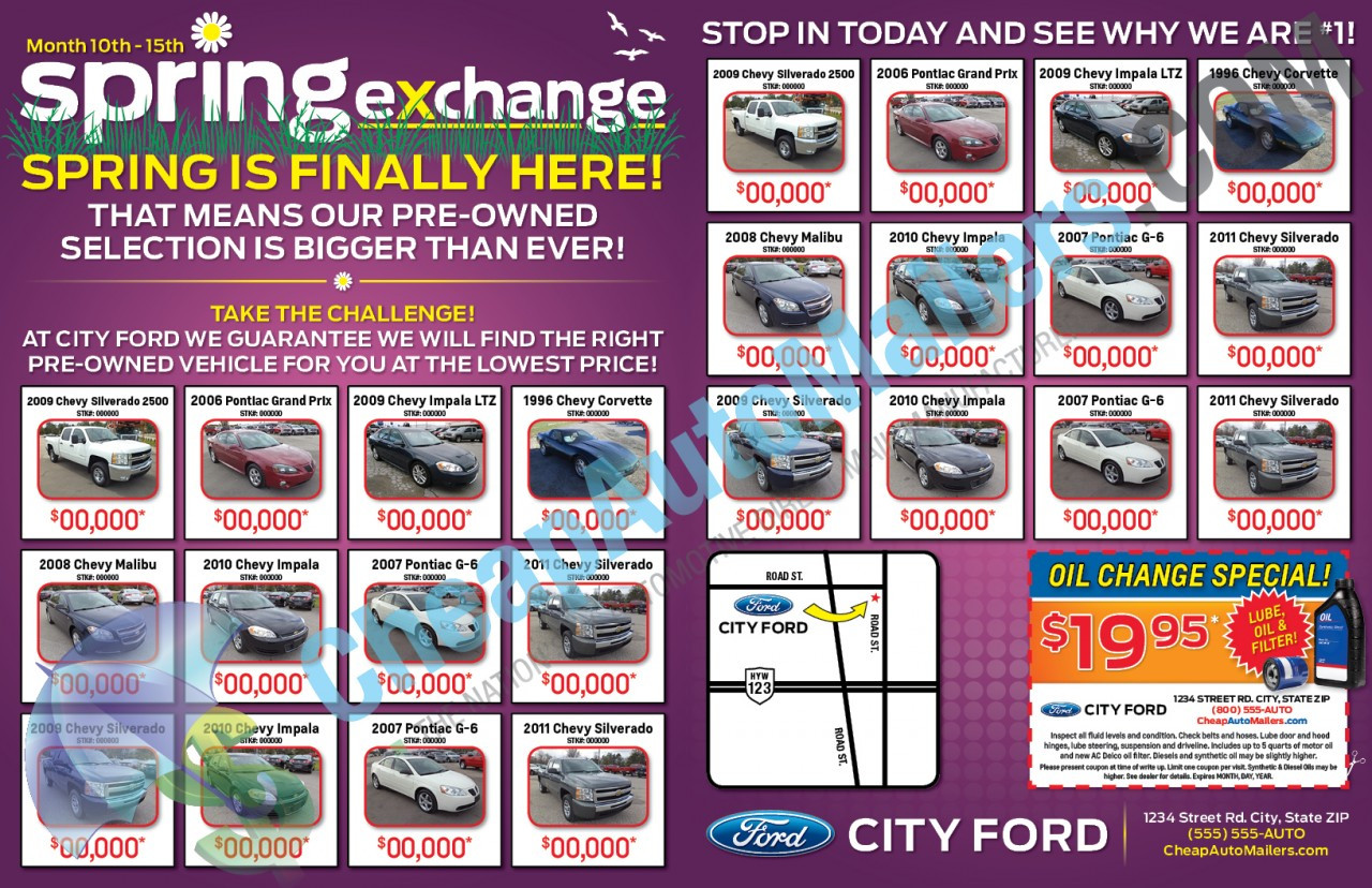 8 Page Booklet Spring Exchange Auto Swap Mailer