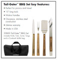 Lamson  Walnut Tail-Gater BBQ 4 Piece Set