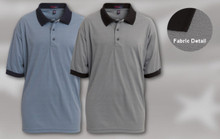 MOISTURE MANAGEMENT SHIRT 100% polyester cat-dyed two-toned satin stitch moisture management shirt with a 3-button placket, solid collar and welts. Union Made in USA. Sizes: S-5XL