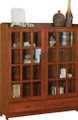 HC 2 Door Book Case W/Drawers.