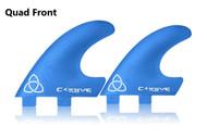 Quad Front Fins  LARGE FCS