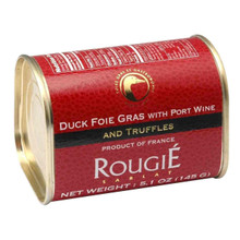 Tinned French Goose Foie Gras with Truffles 145g - ROUGIE - 法國罐裝黑松露菌鵝肝醬 145g