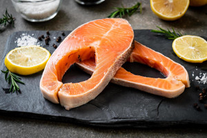 US Coho Salmon Steak 600g  美國三文魚扒 600克