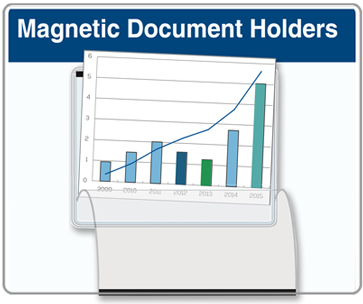 Magnetic Document Holder with Flap 8.5 x 11 Pocket
