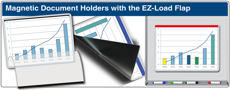 Magnetic Document Holder with EZ-Load Flap
