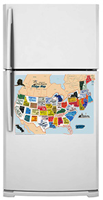 Now Kids Can Fit State Magnets Into Place On A Usa Map Right On The Fridge