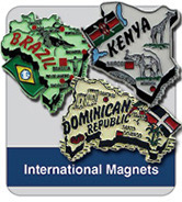International Country shaped Magnets