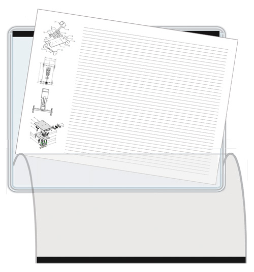 Flap Document Holder 8.5 x 11 magnetic 8-5w