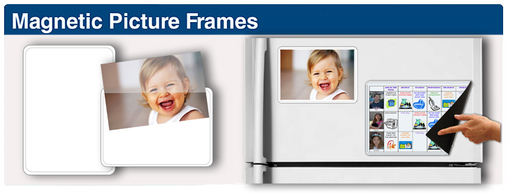 Magnetic Picture Frames - Photo Pockets - Many Sizes