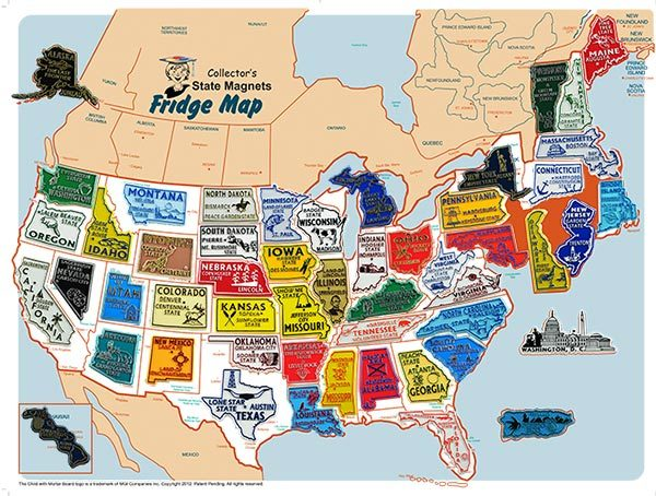 State Magnet Set and Collectors Map