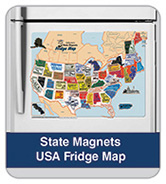 State Magnets USA Map
