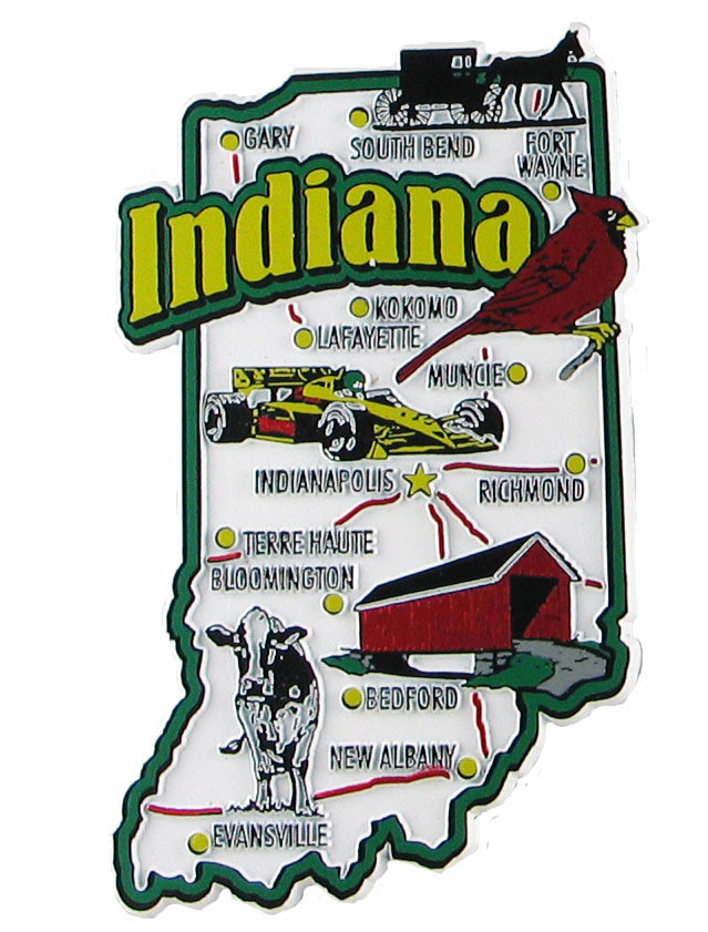 Indiana USA Souvenir Map State Magnet on indianapolis crime map, indianapolis mall, indianapolis township map, indianapolis road map, indianapolis city streets, indianapolis on map, indianapolis central library, indianapolis water park, indianapolis county map, indianapolis street map, indianapolis news anchors, indianapolis school buses, indianapolis indiana, indianapolis white river state park, indianapolis ghetto, indianapolis warren central high school, indiana location in the usa, indianapolis train station,