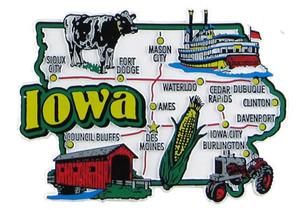 USA map state magnet - IA