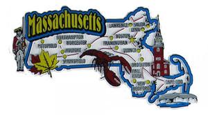 USA map state magnet - MA