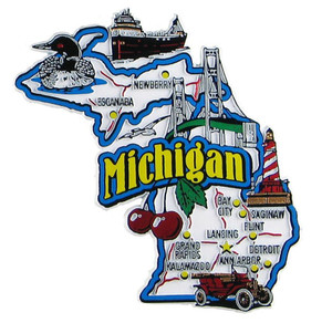 Michigan USA Map State Magnet Magnetic Maps of all 50 States USA