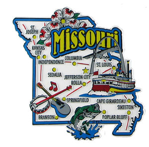 USA map state magnet - MO