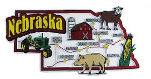 USA map state magnet - NE