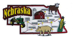 USA map state magnet - NE