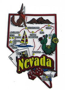 USA map state magnet - NV