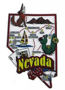 USA map state magnet - NV