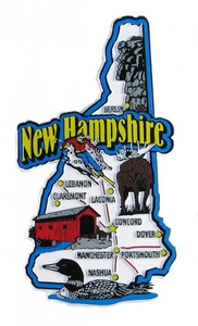 USA map state magnet - NH