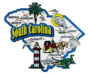 USA map state magnet - SC