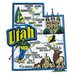 USA map state magnet - UT