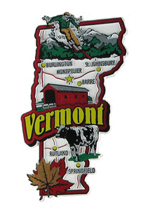 USA map state magnet - VT